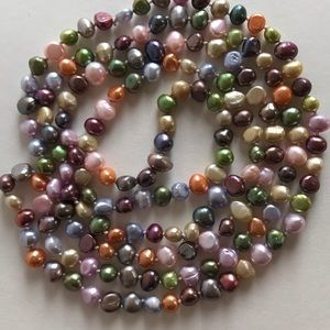 Jewelry - Colorful Knotted Freshwater Pearl Necklace